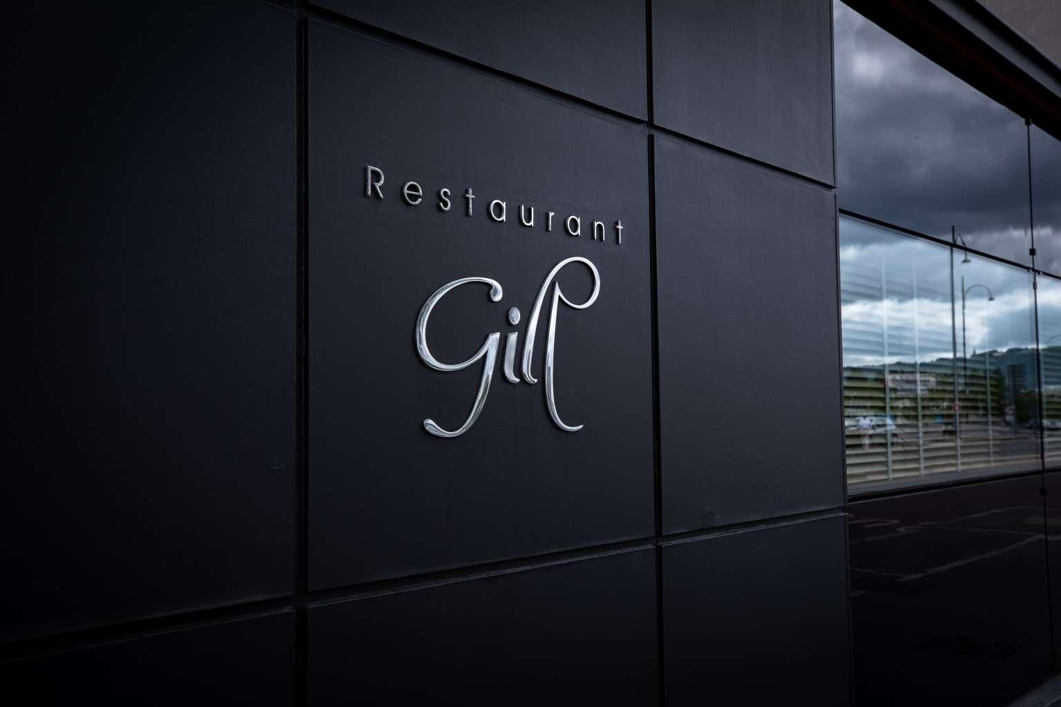 Logo du restaurant gill sur la façade